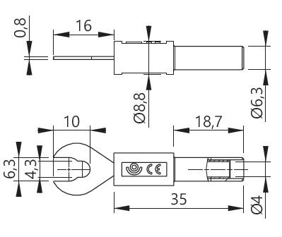 Haarukka-adapteri 4-M6