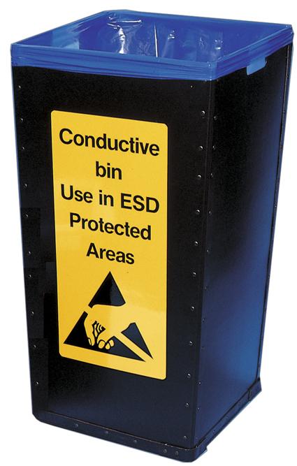 ESD-prügikast, kaas ja antistaatilne prügikott 100L
