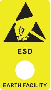ESD-maanduse markeering