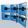 Multikinnitused, 3 kuni 8 monitori