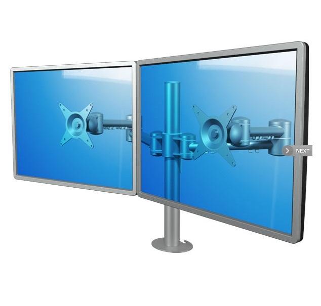Lauakinnitus 2-le monitorile