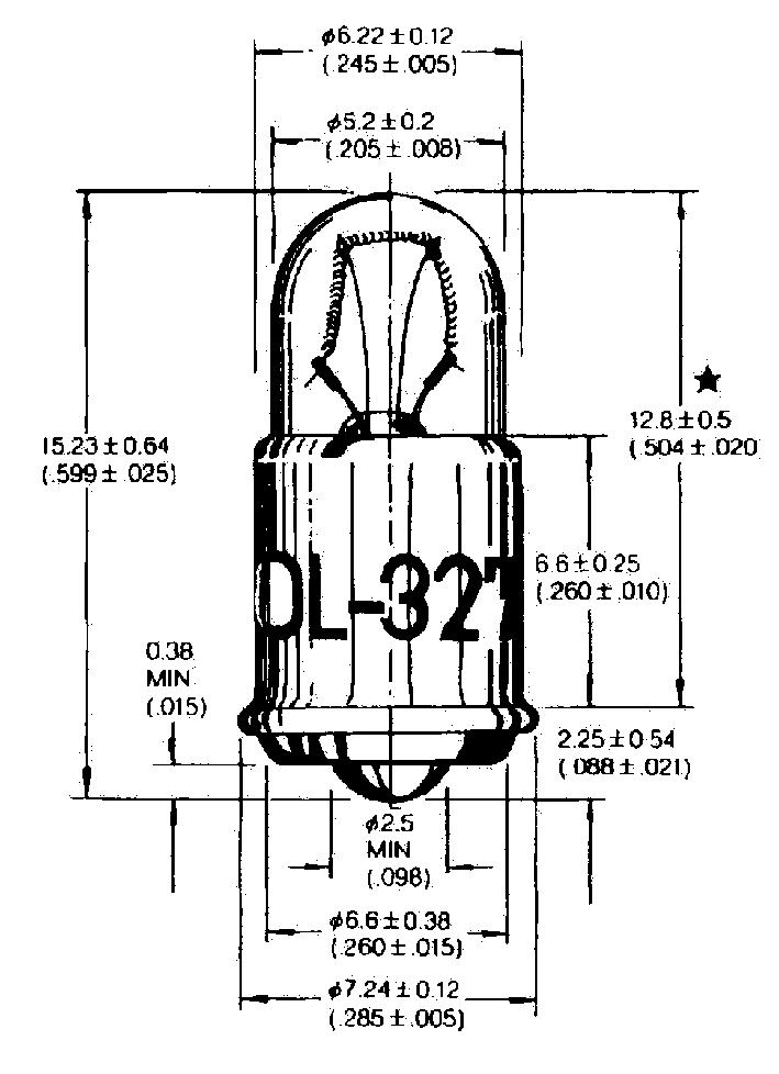 T-1 3/4 MF6s/8  hõõglambid