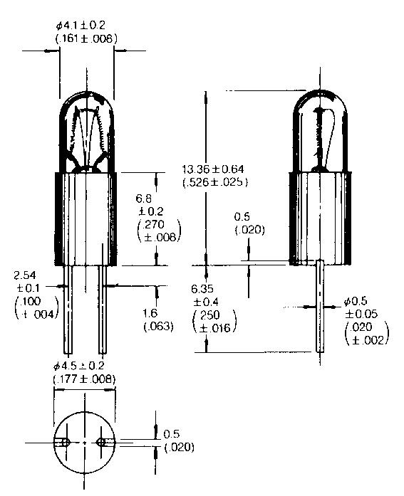 T- 1 1/4 BPE lamp (Bi Pin)