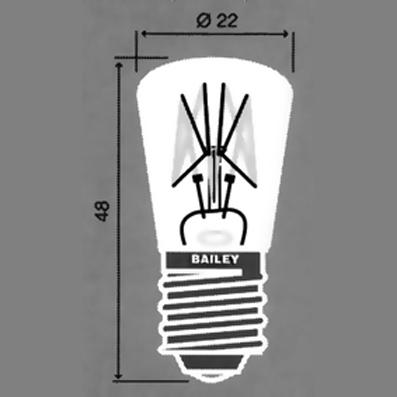 E-14  lambid 22x62 mm/22x48 mm