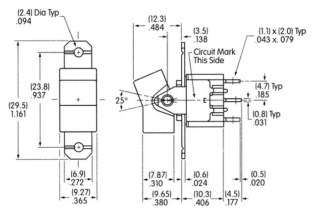 M-sarja tumbler- ja kiiklülitid