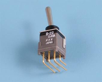 Nikkai Circuitboy-sarja tumblerlülitid trükkplaadile, right angle +tugiraam