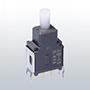 Nikkai Circuitboy-sarja surunupplülitid trükkplaadile,  straight mounting + tugiraam