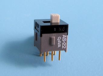 Nikkai Circuitboy-sarja liuglülitid trükkplaadile, straight mounting