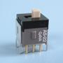 Nikkai Circuitboy-sarja liuglülitid trükkplaadile, straight mounting + tugiraam