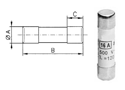Tööstuslik sular 10 * 38 mm