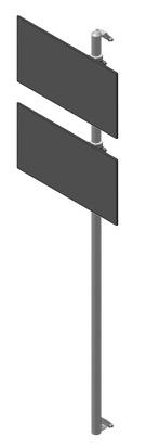 Seinäteline 2 monitoritelineellä