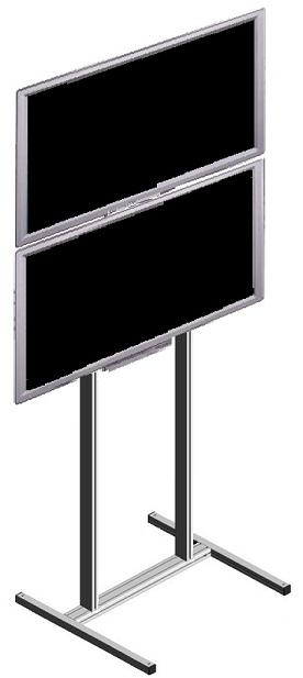 Lattiateline 2 monitorille päällekkäin