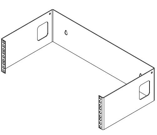 Avoin seinäteline 3U (6U, 9U)