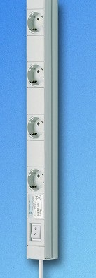 Schuko-rasiat 100 mm jaolla