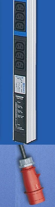 IEC320 rasia, input 3x16A