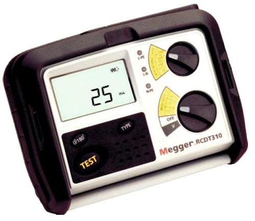 Rikkevoolukaitse tester Megger RCDT310