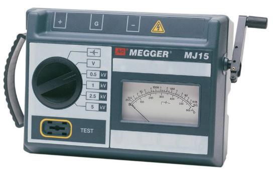 Analoogskaalaga isolatsioontakistuse mõõtja Megger MJ-15