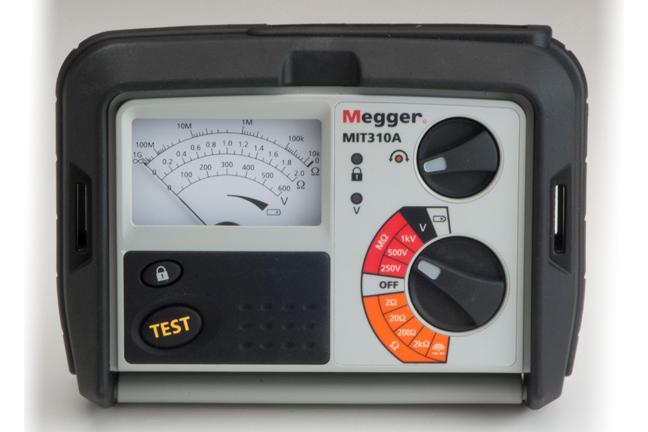 Analoginen eristysvastusmittari Megger MIT310A