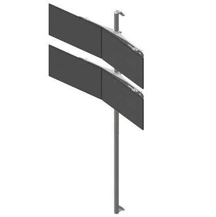 Seinäteline 2×2 monitoria
