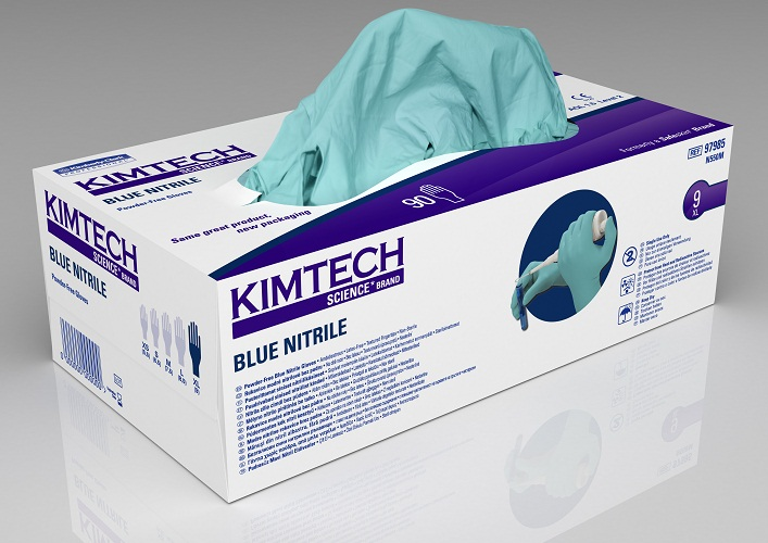 Blue Nitrile PowderFree Exam L