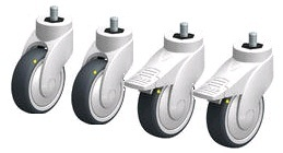 Set of ESD castors 100mm