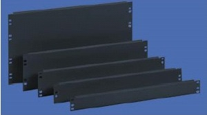 2U screwable panel (3 pcs) RAL7021