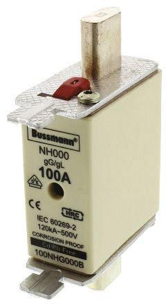 NH FUSE 100A 500V GG/GL SIZE 000
