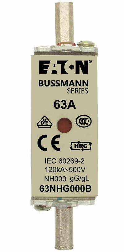 NH FUSE 63A 500V GG/GL SIZE 000