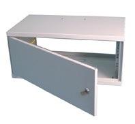 """19""""Wall cabinet 6Ux300, metal door"""