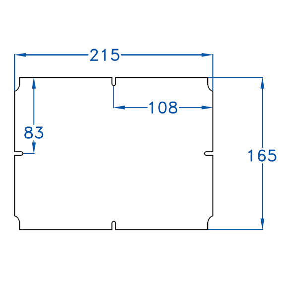 BACKPLATE FOR BOX 240x190