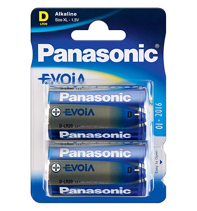 Paristo Panasonic Evoia LR20/D 2kpl
