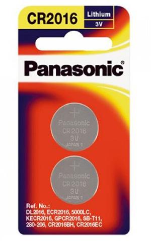 Panasonic CR2016 3V Lit. 90mAh 2kpl