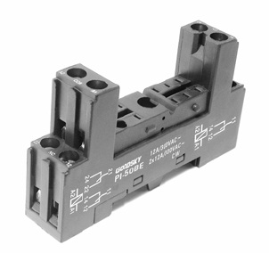 Relay socket for 16A relay DIN-rail