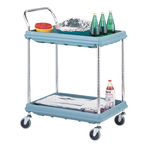 Deep ledge cart, microban 2-shelf