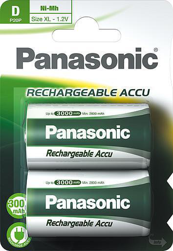 Akku Panasonic D 3000mAh 2kpl