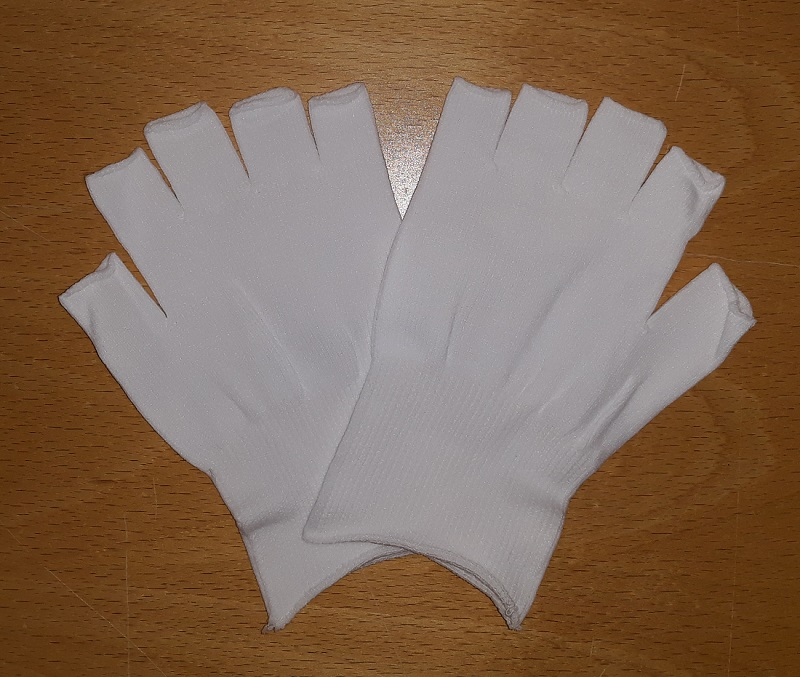 Half fingered liner glove, L, 10 pr