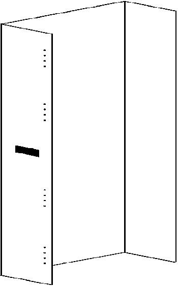 Rear panel for Dacomobile H1120
