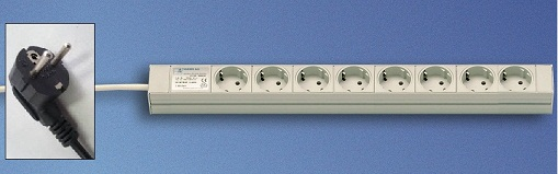 "Socket-Strip (19"") Compact 8 socket"