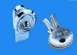 Lock set for side/rear panel