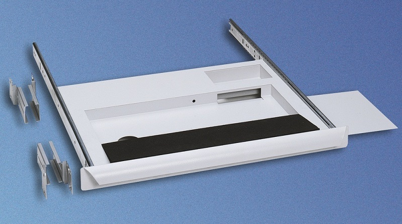 Keyboard drawer 1U with mouse shelf