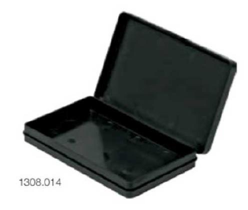 Box with strip hinge lid