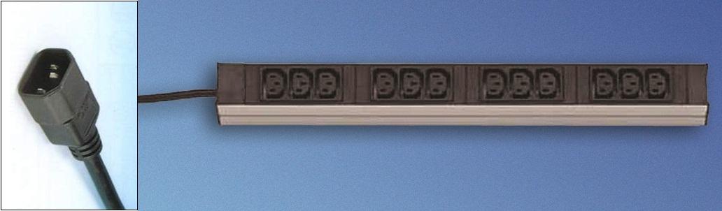 DI-Strip 12x IEC320-C13, plug C14