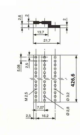 z-rail 84HP DIN 41612 connectors