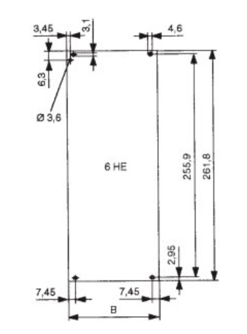 Front panel 6U 84HP (426,38mm)