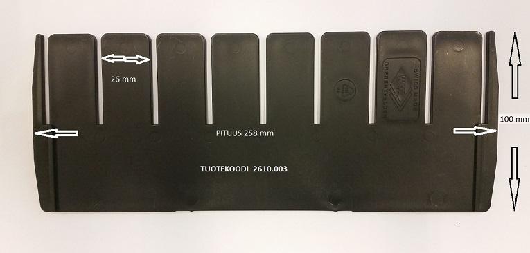 Divider 258x100 mm