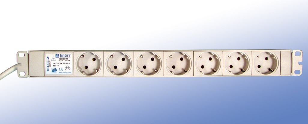 "DI-Strip (19"") 7 sockets, cable 4m."