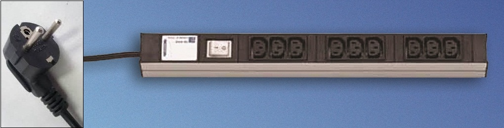 DI-Strip 9xC13 + switch + cable