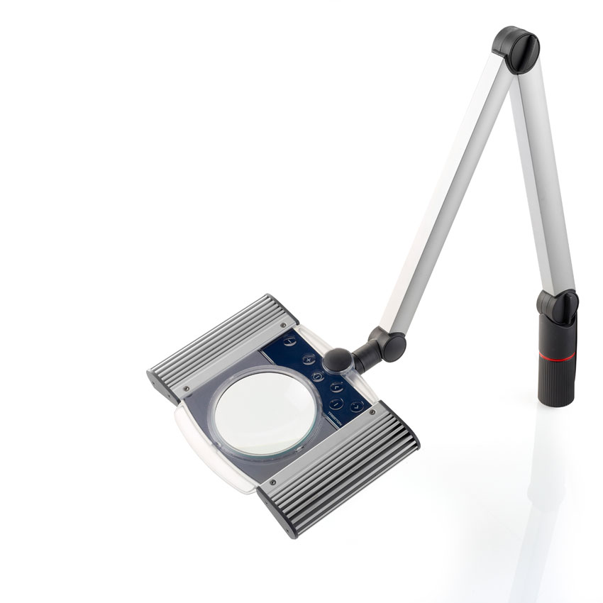 LED magnifying task light