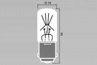 Lamp Ba15d T16X54 48V 10W C-3A