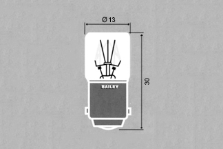 Lamp Ba15d 14x30mm 24V 2W
